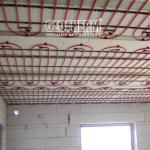 Stropné chladenie v mokrej konštrukcii