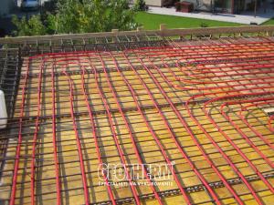 Temperovanie betónového jadra stropu