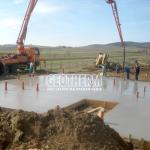 Ležatá kanalizácia, základová doska