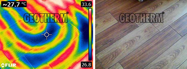 podlahové vykurovanie servis termokamera