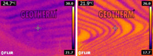 stropné chladenie termovízia