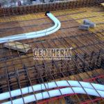Temperovanie betónového jadra, rozvody pre rekuperáciu