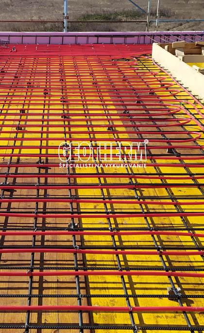 Vykurovanie, chladenie betónového jadra
