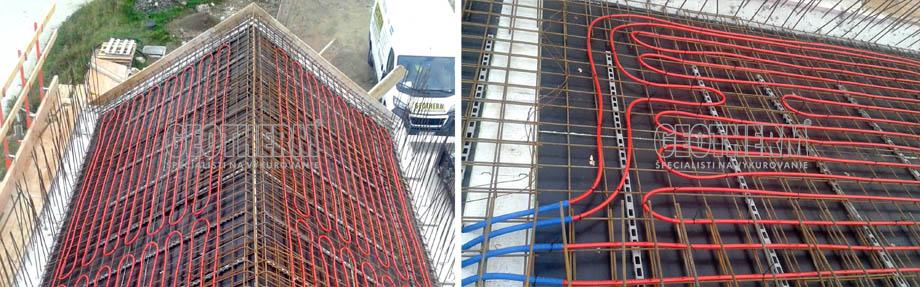 Špeciálne riešenie - temperovanie betónového jadra