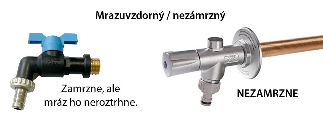 Nezamŕzajúci ventil